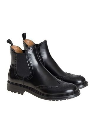 buy cheap reliable Church's Round-Toe Leather Boots with mastercard for sale looking for sale cheapest price Ojz8cY