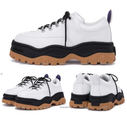 Mountain Boots Unisex Street Style Plain Leather Sneakers