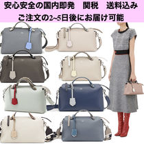 FENDI BY THE WAY Casual Style 2WAY Plain Leather Handbags