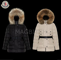 MONCLER CLIO Short Casual Style Fur Street Style Plain Down Jackets