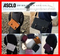 ASCLO Unisex Street Style Leather Messenger & Shoulder Bags