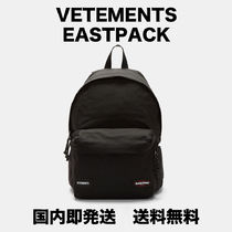 VETEMENTS Unisex Nylon Street Style Collaboration Plain Backpacks