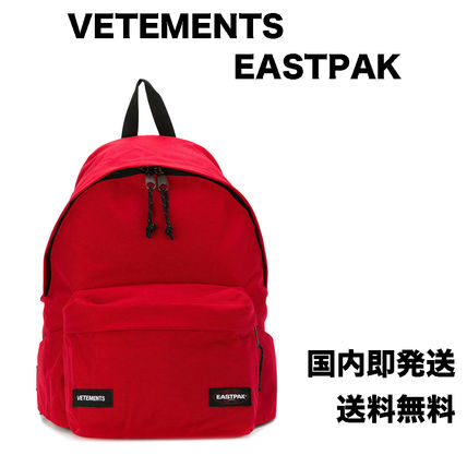 Unisex Nylon Street Style Collaboration Plain Backpacks