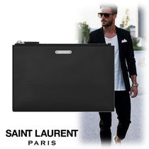 dc911f36a24a Saint Laurent Street Style Bag in Bag Plain Leather Clutches