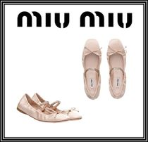 MiuMiu Plain Ballet Shoes