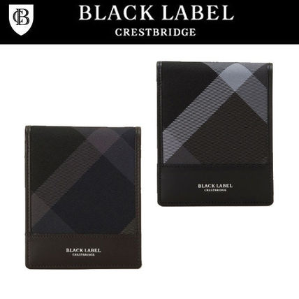 Other Check Patterns Leather Folding Wallets