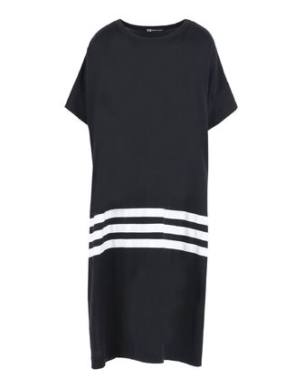 Crew Neck Casual Style Cotton Long Short Sleeves Dresses