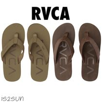 RVCA Casual Style Unisex Street Style Plain Leather Khaki