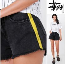 STUSSY Short Casual Style Denim Plain Denim & Cotton Shorts