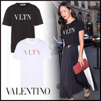VALENTINO Plain Cotton Medium Short Sleeves Oversized T-Shirts