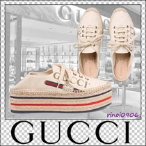 GUCCI Platform Casual Style Platform & Wedge Sneakers