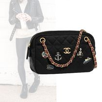 CHANEL Casual Style Chain Plain Shoulder Bags