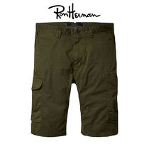 Ron Herman Plain Cotton Handmade Cargo Shorts