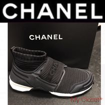 CHANEL SPORTS Stripes Rubber Sole Casual Style Unisex Street Style Plain
