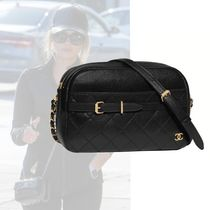 CHANEL Casual Style Calfskin Chain Plain Shoulder Bags