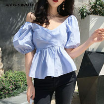 Short Plain Short Sleeves Shirts & Blouses