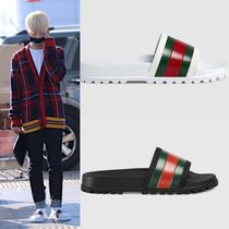 GUCCI Street Style Plain Shower Shoes Shower Sandals