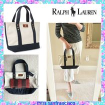 Ralph Lauren Canvas A4 Bi-color Plain Totes
