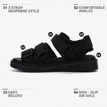 BSQT Open Toe Platform Casual Style Unisex Street Style Plain