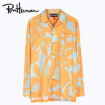 Ron Herman Flower Patterns Tropical Patterns Unisex Long Sleeves Cotton