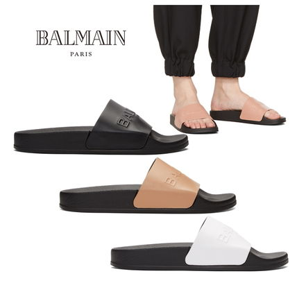 Leather Shower Shoes Flat Sandals