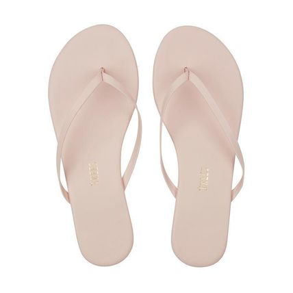 5dadf8eb55f0 TKEES 2018 SS Plain Leather Flip Flops Flat Sandals by Cee-Cee - BUYMA