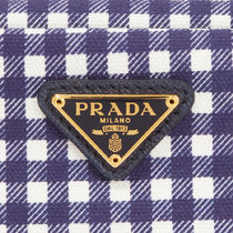 PRADA Gingham Pouches & Cosmetic Bags