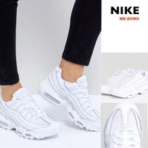 Nike AIR MAX 95 Platform Round Toe Lace-up Casual Style Plain Leather