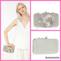 Accessorize Flower Patterns Blended Fabrics 2WAY Chain Party Style