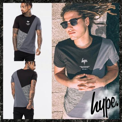 Crew Neck Pullovers Street Style Short Sleeves