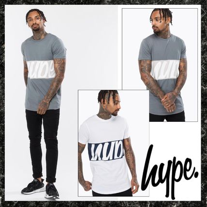 Crew Neck Pullovers Stripes Street Style Short Sleeves