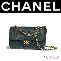 CHANEL ICON Crocodile 2WAY Chain Plain Other Animal Patterns