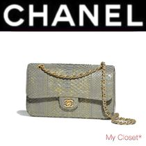 CHANEL ICON Crocodile Blended Fabrics 2WAY Chain Plain Python