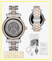 Michael Kors Round Mechanical Watch Stainless With Jewels Elegant Style