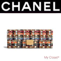 CHANEL ICON Other Check Patterns Lambskin Street Style Elegant Style