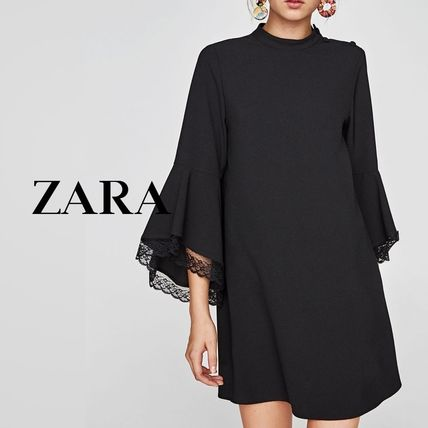 A-line Party Style Puff Sleeves Dresses
