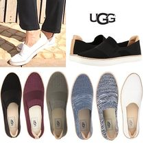 UGG Australia Plain Toe Rubber Sole Casual Style Blended Fabrics Plain