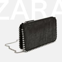 ZARA Studded Chain Shoulder Bags