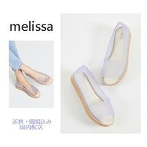 Melissa Open Toe Rubber Sole Casual Style Plain Rain Boots Boots