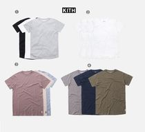 KITH NYC Crew Neck Street Style Plain Cotton Short Sleeves T-Shirts