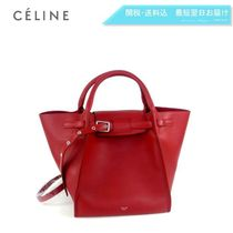 CELINE 2WAY Plain Leather Elegant Style Handbags