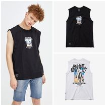 GROOVE RHYME Sleeveless Cotton Tanks