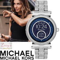 Michael Kors Casual Style Street Style Round Stainless With Jewels
