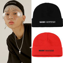 BASIC COTTON Unisex Street Style Knit Hats