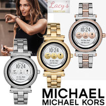 Michael Kors Street Style Round Stainless With Jewels Elegant Style