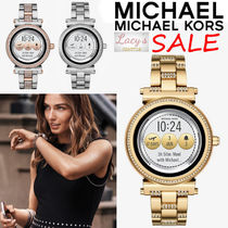 Michael Kors Street Style Round Mechanical Watch Stainless With Jewels