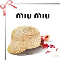 MiuMiu Blended Fabrics Hats & Hair Accessories