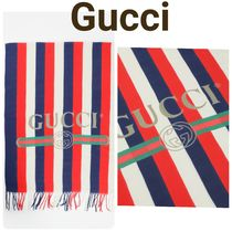GUCCI Stripes Street Style Scarves