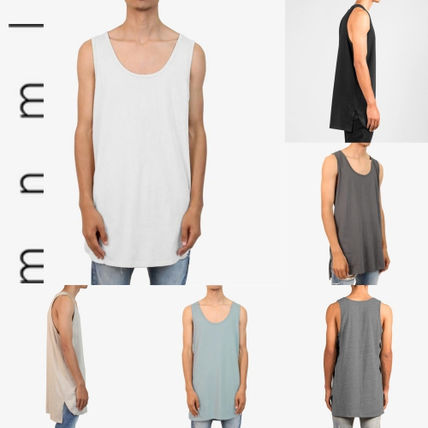 MNML Vests & Gillets Street Style Plain Cotton Vests & Gillets