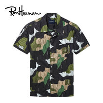 Ron Herman Camouflage Unisex Cotton Short Sleeves Handmade Shirts